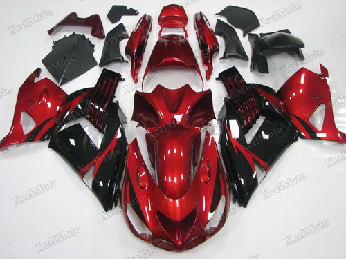 Kawasaki Ninja ZX14 ZZR1400 red and black