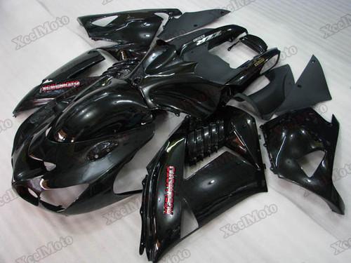 Kawasaki Ninja ZX14 ZZR1400 black fairings and body kits, 2012 to 2018 Kawasaki Ninja ZX14 ZZR1400 OEM replacement fairings and bodywork.