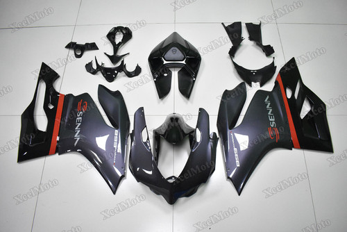 Ducati 899 1199 Panigale SENNA replica fairings grey and black