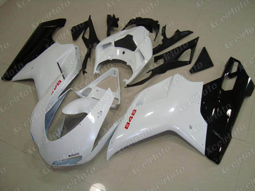 Ducati 848 1098 1198 white and black fairings