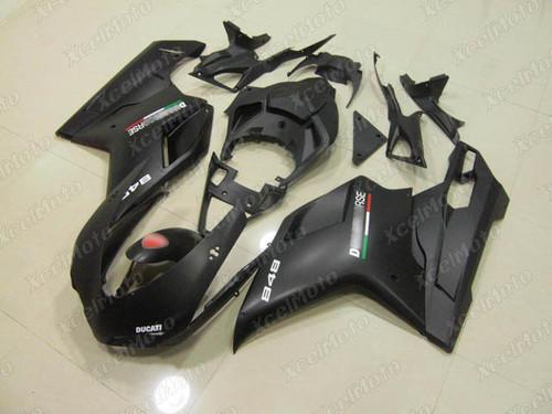 Ducati 848 1098 1198 black fairings and body kits, Ducati 848 1098 1198 OEM replacement fairings and bodywork.