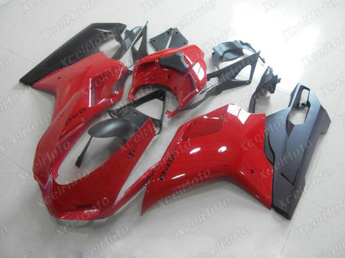 Ducati 848 1098 1198 red and black fairings and body kits, Ducati 848 1098 1198 OEM replacement fairings and bodywork.
