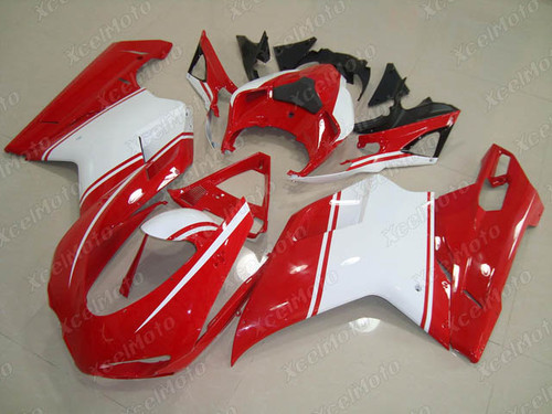 Ducati 848 1098 1198 red and white fairing kit