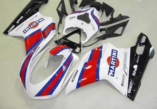 Ducati 848 1098 1198 Martini fairings and body kits, Ducati 848 1098 1198 OEM replacement fairings and bodywork.