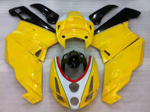 2003 2004 Ducati 749/999 yellow and black fairings and body kits, 2003 2004 Ducati 749/999 OEM replacement fairings and bodywork.