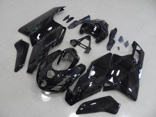 2003 2004 Ducati 749/999 gloss black and black fairings and body kits, 2003 2004 Ducati 749/999 OEM replacement fairings and bodywork.