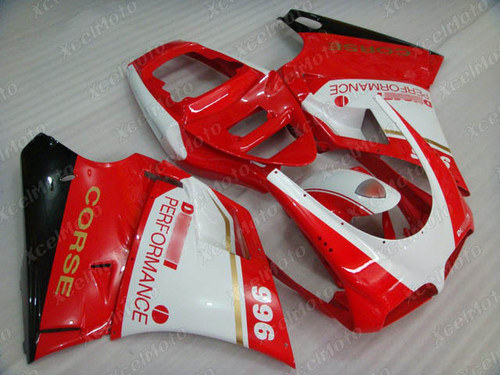 Ducati 748 916 996 red and white fairing kit