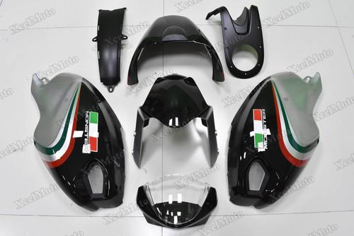 Ducati Monster 696 796 1100 black and grey fairings and body kits, Ducati Monster 696 796 1100 OEM replacement fairings and bodywork.
