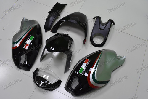 Ducati Monster 696 796 1100 black and grey fairings and body kits, Ducati Monster 696 796 1100 OEM replacement fairings and bodywork.