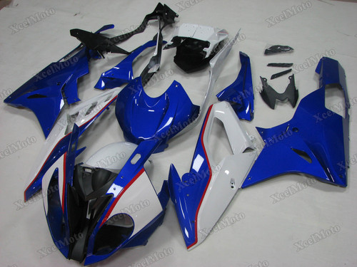 2015 2016 BMW S1000RR blue and white fairings