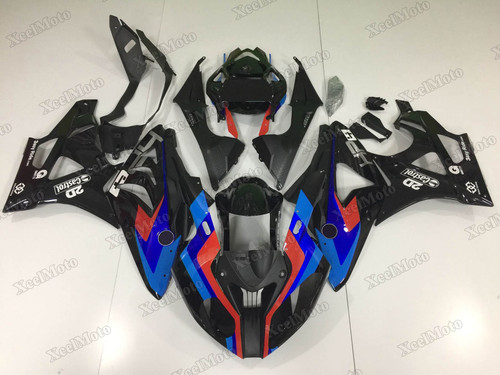 2009 2010 2011 2012 2013 2014 BMW S1000RR black and blue fairing set