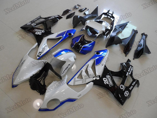 2009 2010 2011 2012 2013 2014 BMW S1000RR aftermarket fairings white blue and black