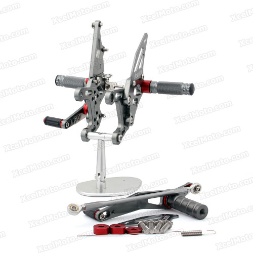 Motorcycle rear sets assembly for 2009 2010 2011 2012 2013 2014 Yamaha YZF-R1 are design to improve the ground clearance, crash worthiness and overall good looks of your bike.