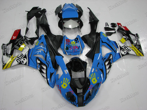 Aftermarket Fairings for 2009 to 2014 BMW S1000RR shark pattern - SKU: B10918