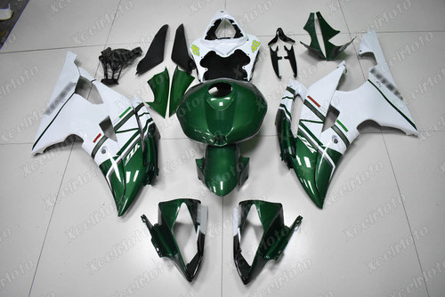 2008 2009 2010 to 2015 2016 Yamaha R6 green and white FIAT fairing