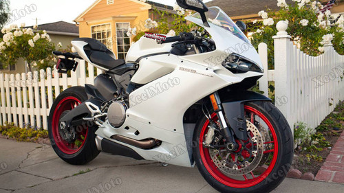 Ducati 959 1299 Panigale matte pearl white fairing kit