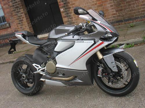 Ducati 899 1199 Panigale tricolore gray and white fairing