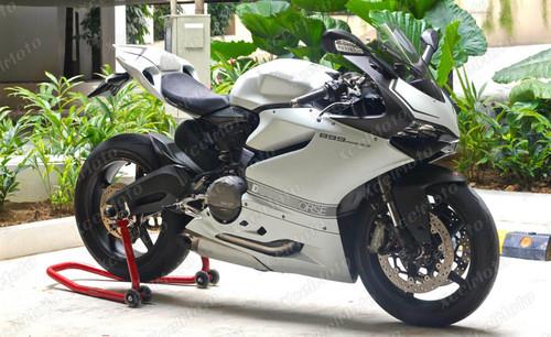 Ducati 899 1199 Panigale matte white and matte black fairing