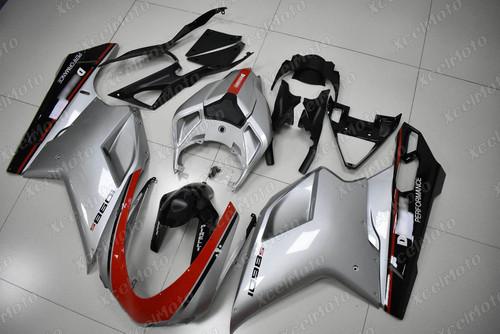 Ducati 848 EVO 1098 1198 metallic spark silver fairing
