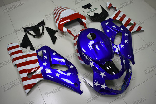 2001 2002 2003 Suzuki GSXR600/750 US flag scheme fairings.
