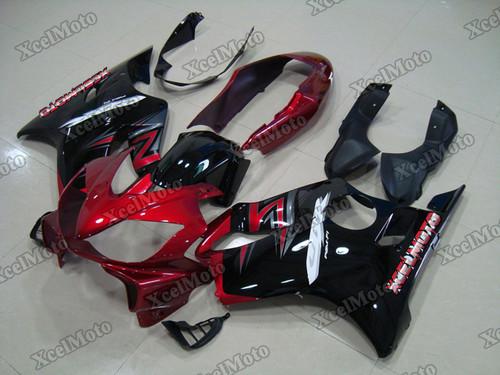 2004 2005 2006 2007 Honda CBR600F4i red and black fairing kit