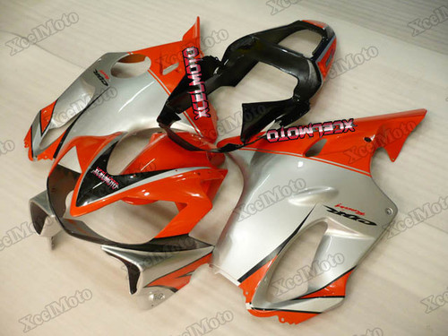 2001 2002 2003 Honda CBR600F4i orange and silver fairings