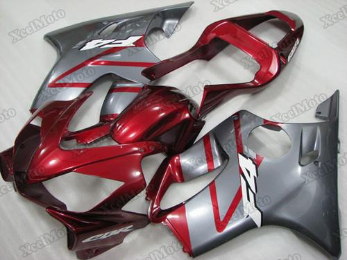2001 2002 2003 Honda CBR600F4i dark red and grey fairing