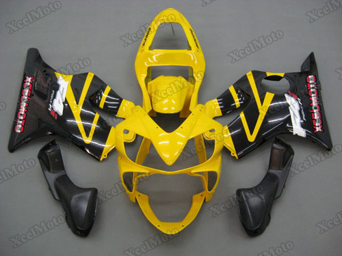 2001 2002 2003 Honda CBR600F4i yellow and black fairing kit