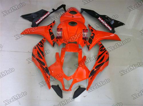 2007 2008 Honda CBR600RR orange tribal fairings