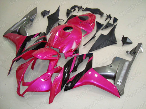 2007 2008 Honda CBR600RR pink and grey fairings