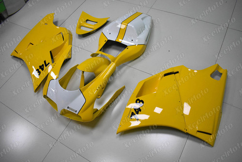 Ducati 748 916 996 Desmoquattro yellow fairing.