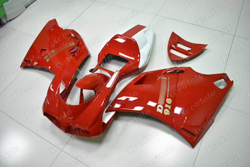 Ducati 748 916 DESMOQUATTRO red and white fairing