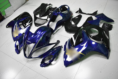 Suzuki Hayabusa GSX1300R OEM replacement fairings blue and black