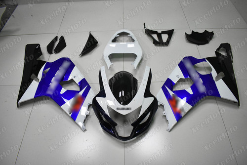 2004 2005 Suzuki GSXR600 GSXR750 blue and white fairing