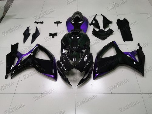 2006 2007 Suzuki GSXR600/750 black and purple fairings and body kits