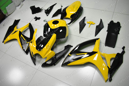 2006 2007 Suzuki GSXR600 GSXR750 yellow and black fairing