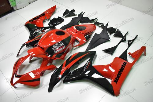 Honda CBR600RR 2007 2008 custom fairings and body kit red and black