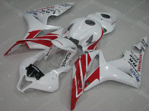 2007 2008 Honda CBR600RR white and red fairing