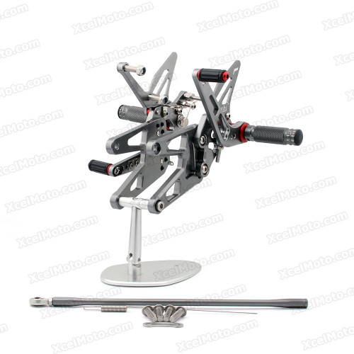 Motorcycle rear sets assembly for 2008 2009 2010 2011 2012 Kawasaki Ninja 250R EX250 are design to improve the ground clearance, crash worthiness and overall good looks of your bike.