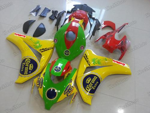 2008 2009 2010 2011 Honda CBR1000RR Fireblade yellow and green
