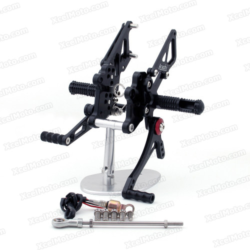 Motorcycle rear sets assembly for 2013 2014 Kawasaki Z300 are design to improve the ground clearance, crash worthiness and overall good looks of your bike.