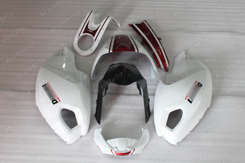 Ducati Monster 696 796 1100 pearl white and red fairing