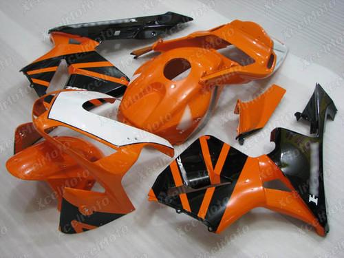 2003 2004 Honda CBR600RR aftermarket fairing orange and black scheme