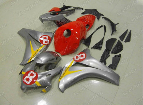 2008 2009 2010 2011 Honda CBR1000RR silver and red fairing