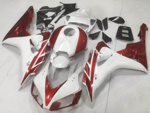 2006 2007 Honda CBR1000RR white and red fairing