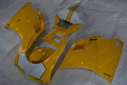 Ducati 748 916 996 yellow and white fairing