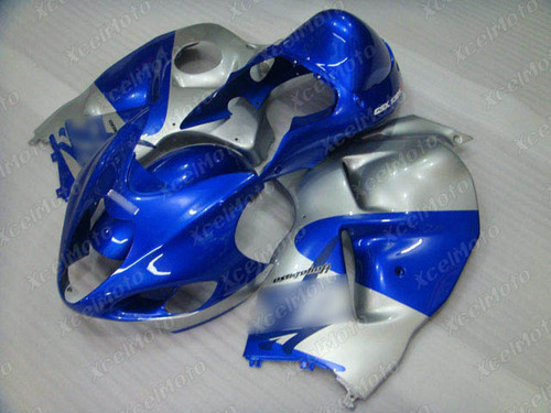 Suzuki Hayabusa GSXR1300 blue and silver fairing