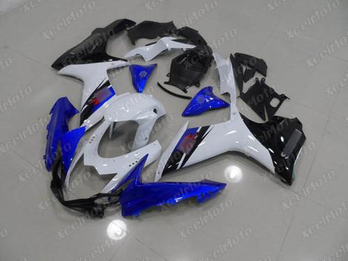 2011 to 2018 2019 2020 Suzuki GSXR 600/750 blue white and black fairing