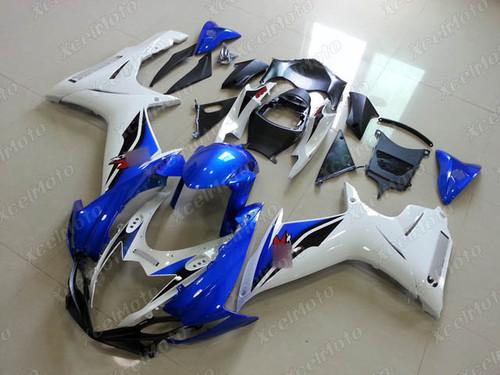 2011 to 2018 2019 2020 Suzuki GSXR 600/750 blue and white fairing