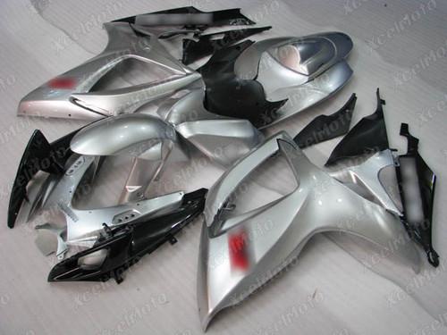 2006 2007 Suzuki GSXR600 GSXR750 silver fairing